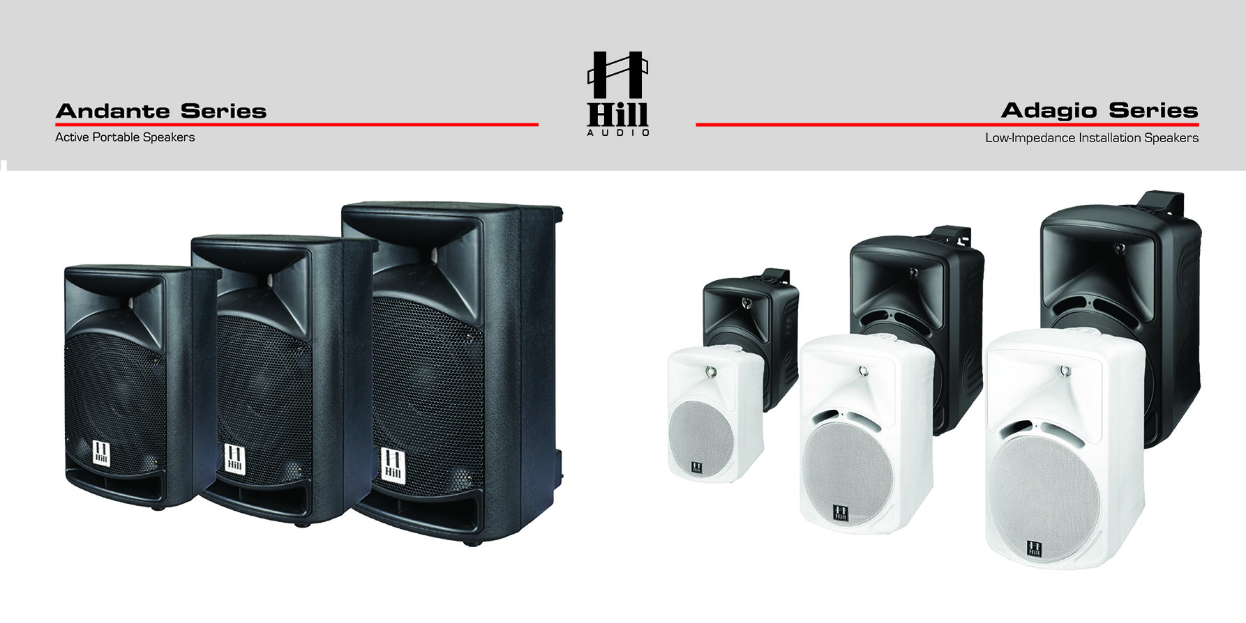 range of loudspeakers with pristine sound and superb dynamics for both foreground and background music applications.